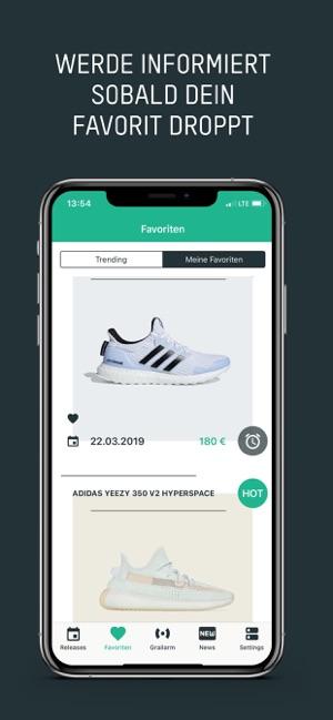 Grailify Sneaker Releases im App Store