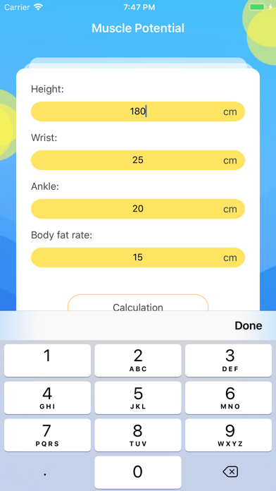 Muscle Potential-Calculation screenshot 2
