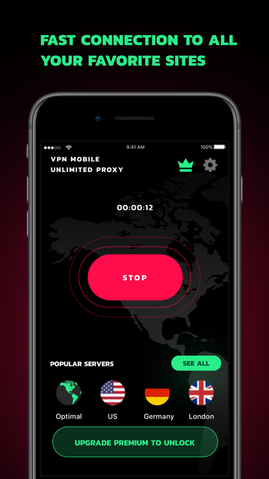 VPN Mobile Unlimited Proxy Screenshot