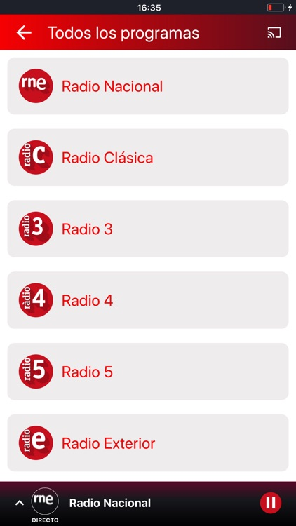 Radio Nacional de España screenshot-5