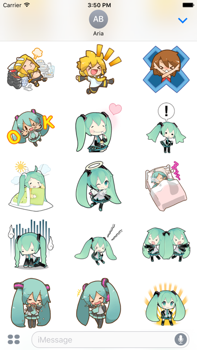 Happy Miku And Gang HD Sticker screenshot 6