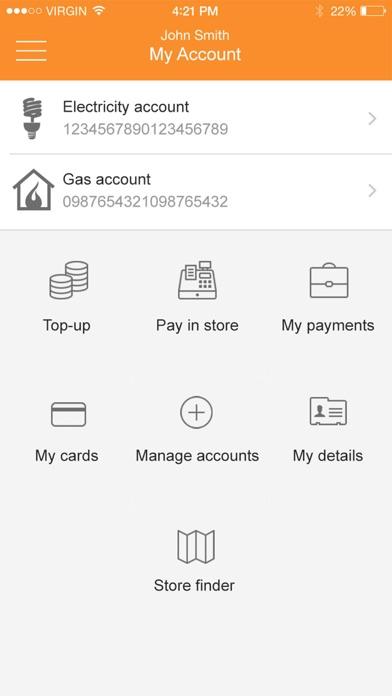 E (Gas & Electricity) screenshot three