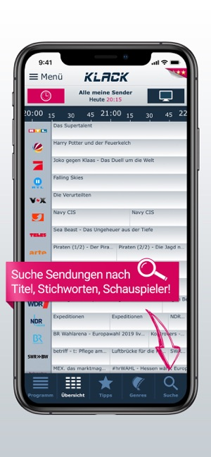 TV-Programm KLACK: Ihre TV-App Screenshot
