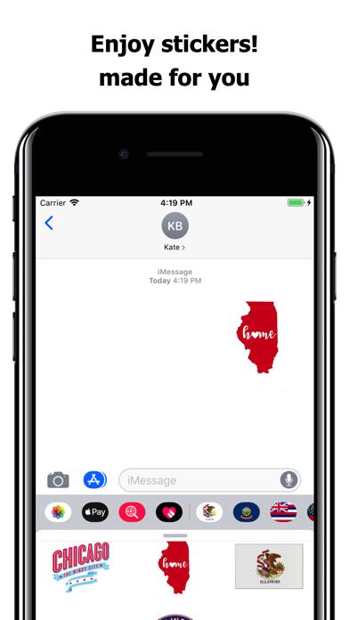 Illinois emojis - USA stickers screenshot 5