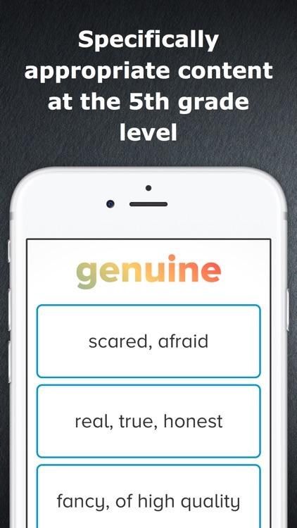 5th Grade Vocabulary Challenge screenshot-3