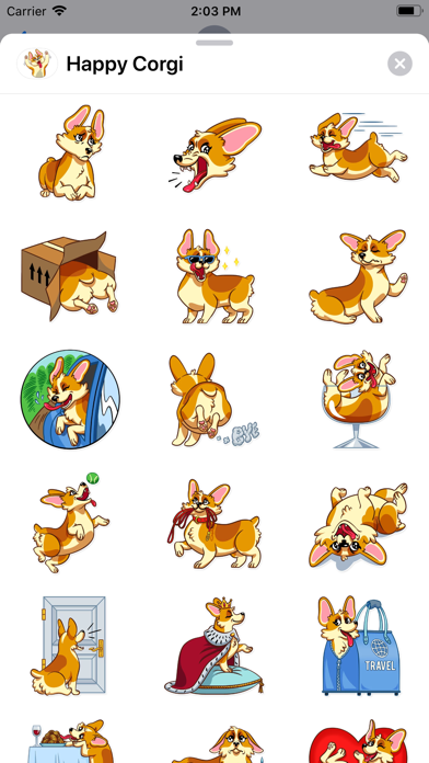 Screenshot for Happy Corgi Sticker Pack in United States App Store