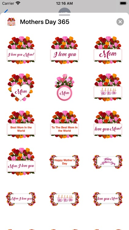 Mother's Day 365 Stickers screenshot-4