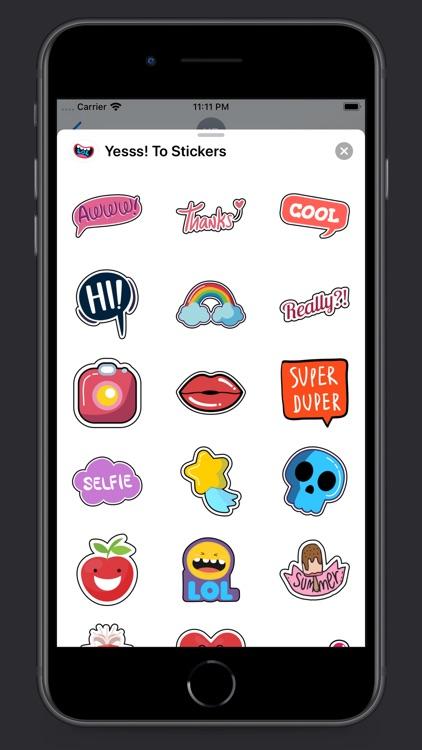 Yesss! To Stickers screenshot-4