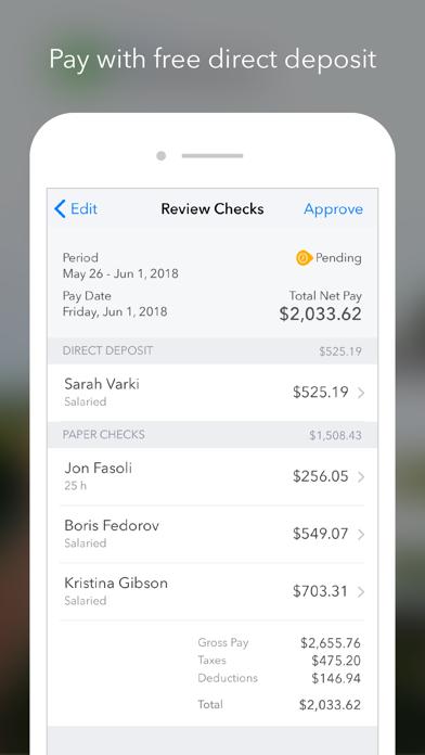 QuickBooks Payroll iPhone
