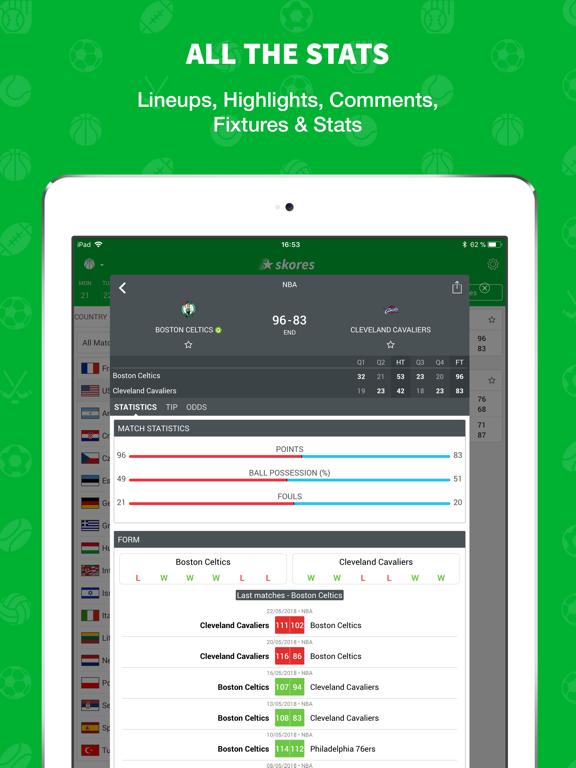 Skores - Live Scores & Results screenshot 9