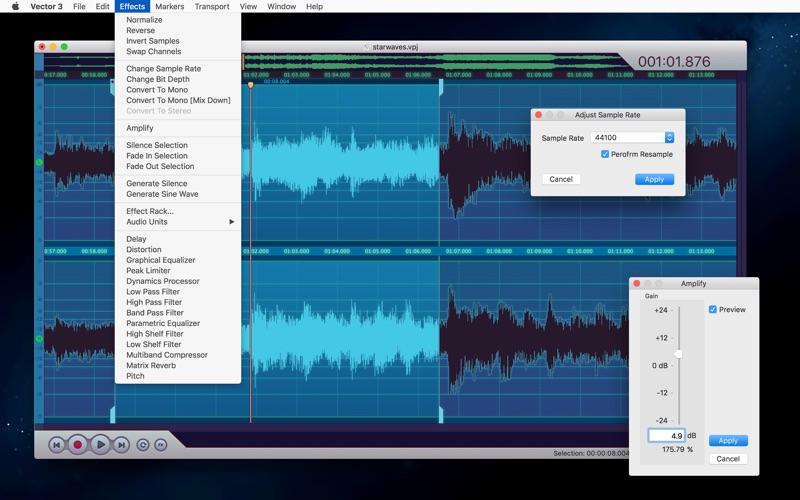 Vector 3 Express: Audio Editor скриншот программы 6