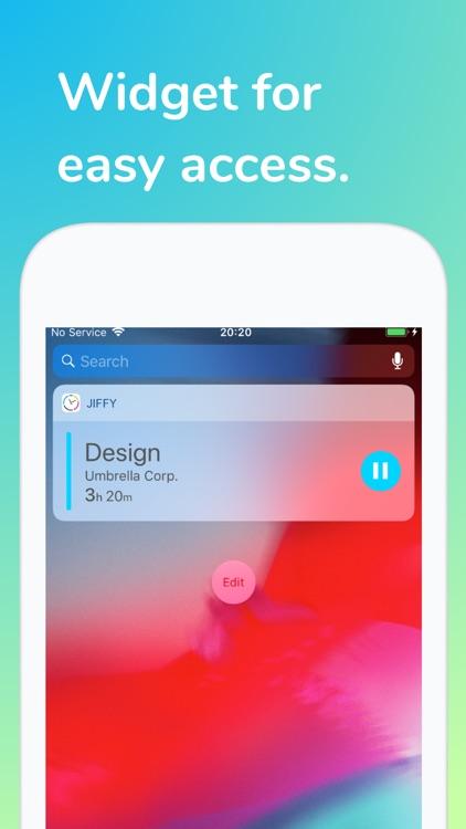 Jiffy - Work Time Tracker screenshot-4