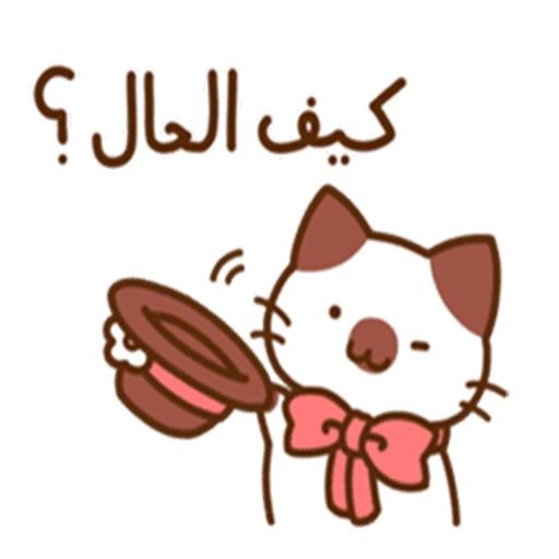 ملصقات القطط عربي