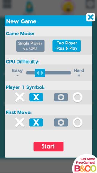 Tic Tac Toe 2 Player GlowCaptura de pantalla de5