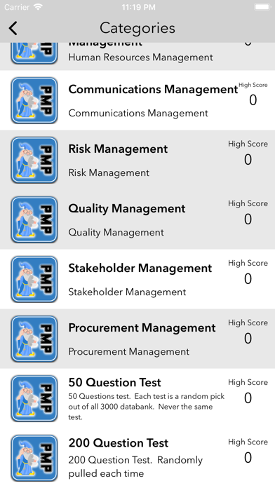 Screenshot for PMP Advanced in United States App Store