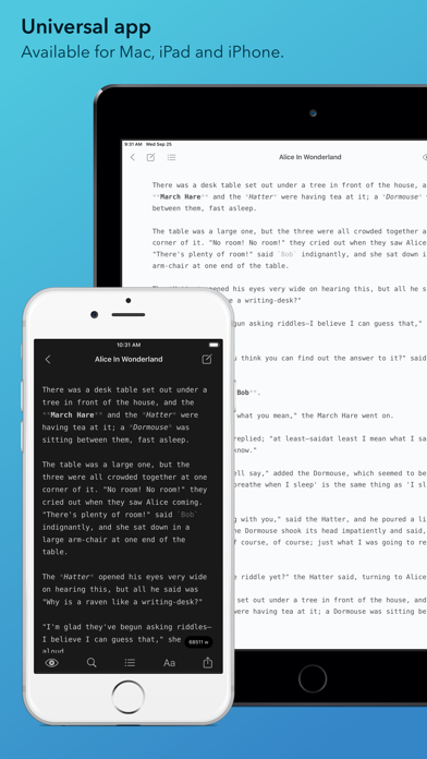 Screenshot #1 pour iWriter Pro