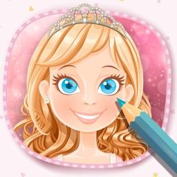 Magic Princesses Coloring Book