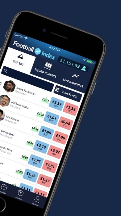 Football INDEX - Bet & Trade screenshot two