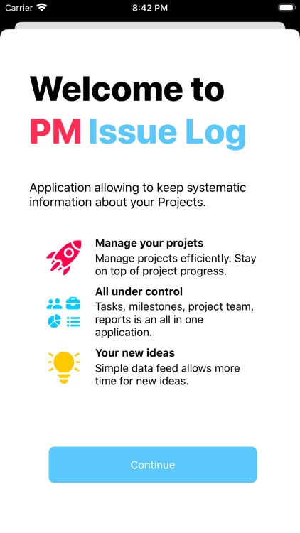 PM Issue Log