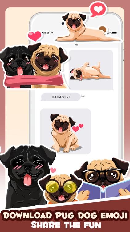 Pug Puppy Dog Emoji & Stickers screenshot-4