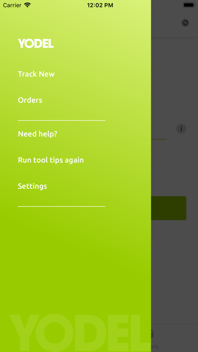 Yodel parcel manager screenshot three