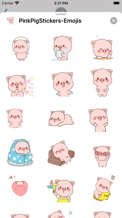 PinkPigStickers-Emojis screenshot-3