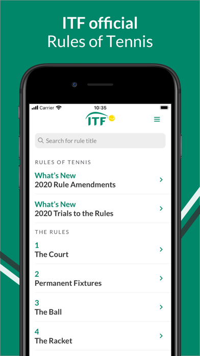 Rules of Tennis screenshot