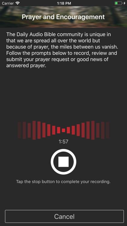 Daily Audio Bible Mobile App screenshot-3