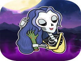 Skeleton Witch Stickers Pack