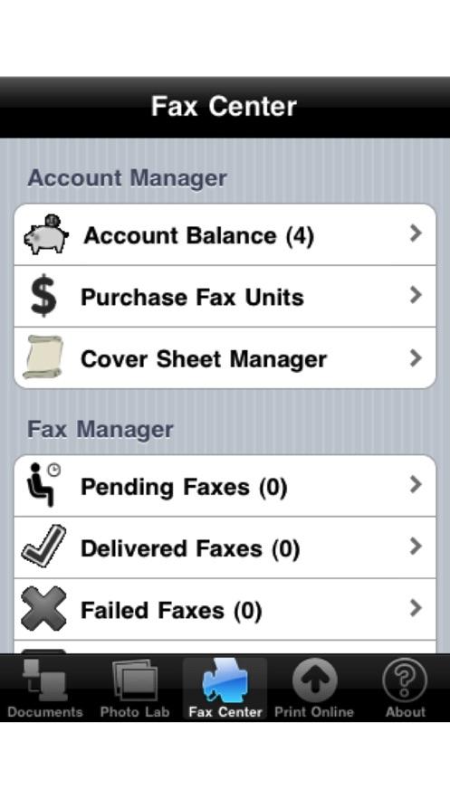 Fax Print Share App 截图