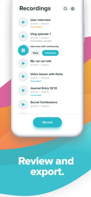 ‎Temi - Recorder & Transcriber Screenshot