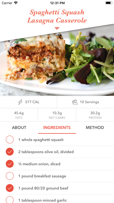 Keto Diet Recipes Screenshot