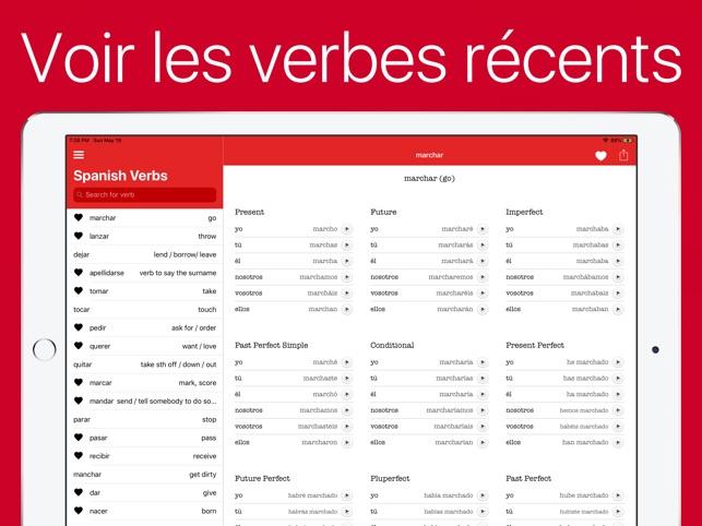 Verbes Espagnol Dans L App Store