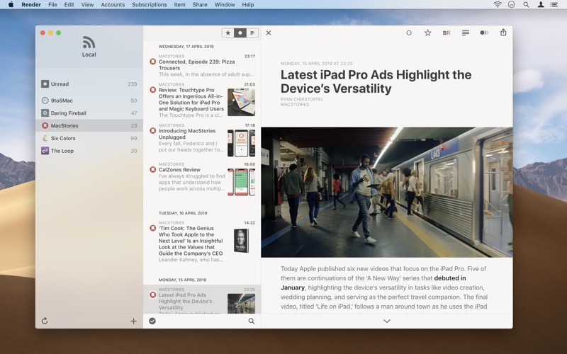 Reeder 4 for Mac