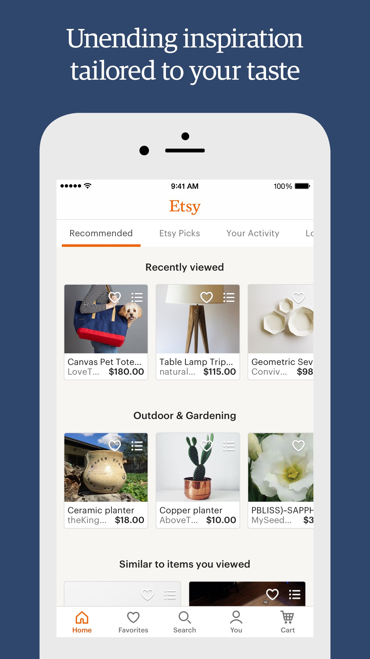 Etsy: Custom & Creative Goods Screenshot