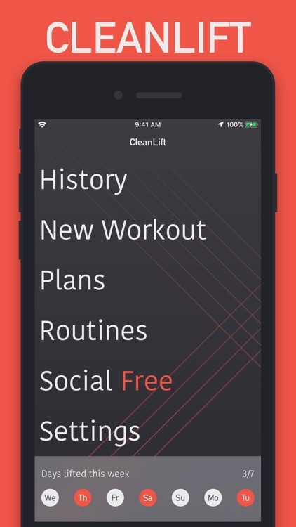 CleanLift - Weight Training screenshot-0