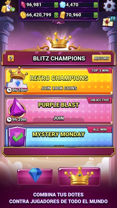 Screenshot of Bejeweled Blitz4