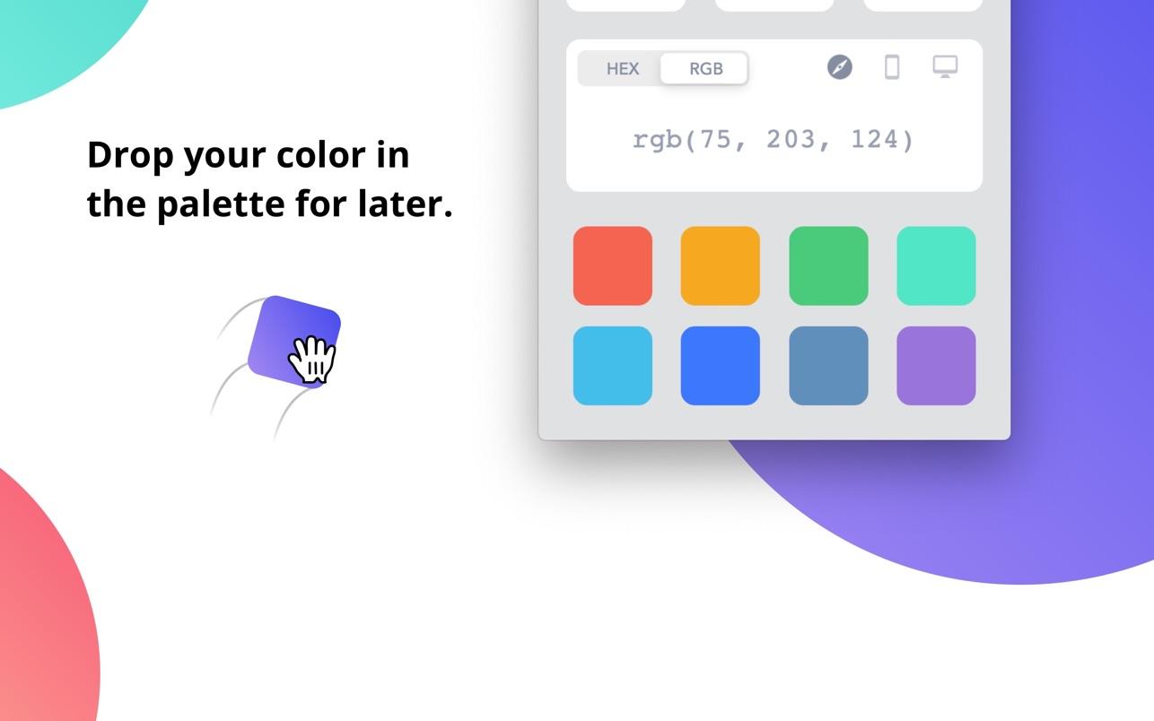 Drop - Color Picker Mac 破解版 易用的屏幕取色工具-麦氪搜(iMacso.com)