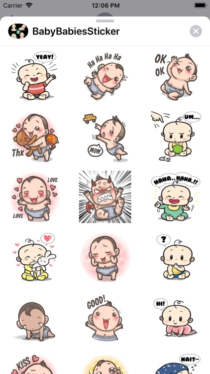 Cute Babies Stickers Baby Moji screenshot-3