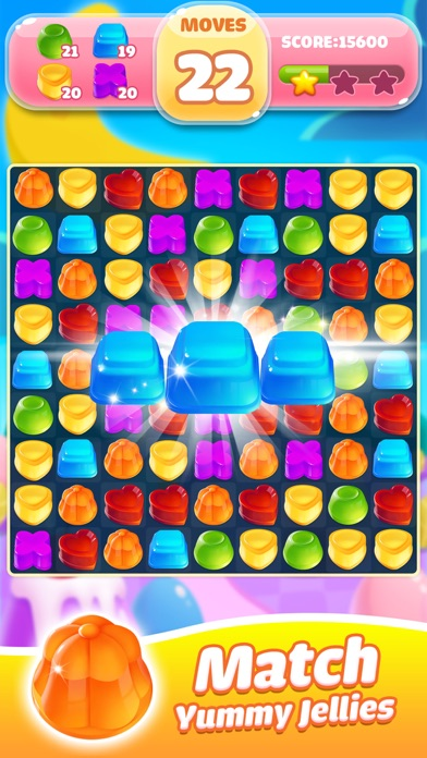 Jelly Jam Crush - Match 3 Game screenshot one