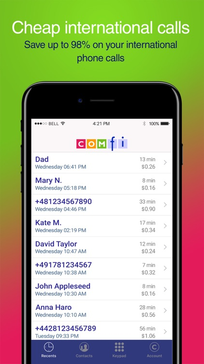 Comfi Cheap International Call screenshot-3