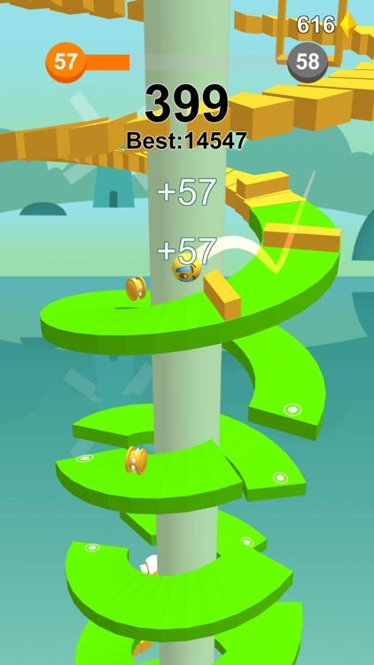 Jump Ball-Bounce On Tower Tile screenshot-3