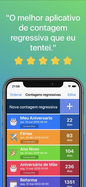 app para contar dias de aniversario