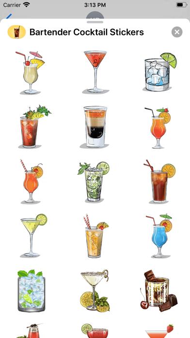 Bartender Cocktail Stickers screenshot 2