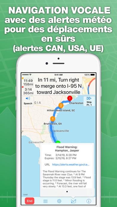 Screenshot #3 pour inRoute planificateur de route