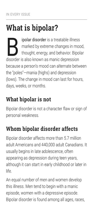 bp Magazine for Bipolar on the App Store
