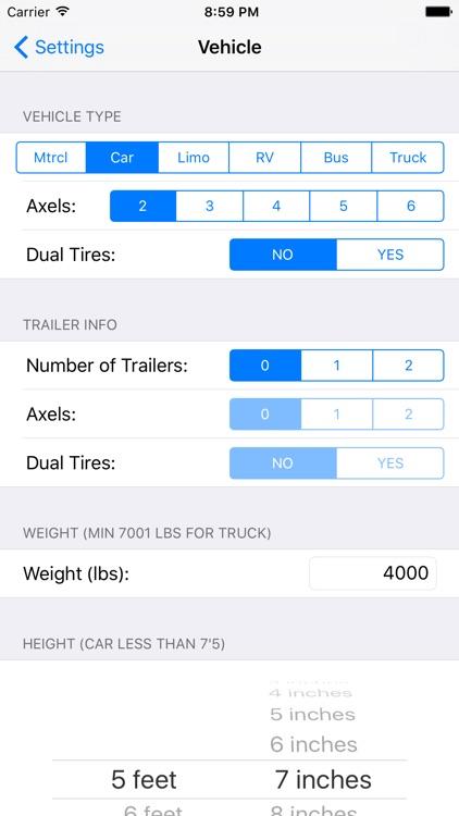 Toll Calculator GPS Navigation