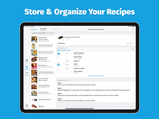 AnyList – Grocery Shopping List, Recipe Manager & Meal Planning Calendar screenshot