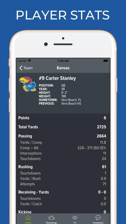 Kansas Football Schedules screenshot-3