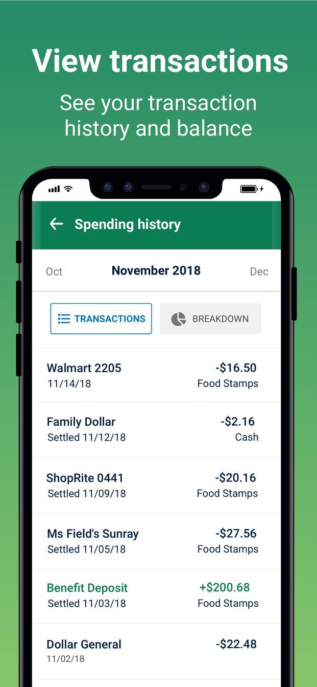 Fresh EBT - Food Stamp Balance   AppFollow